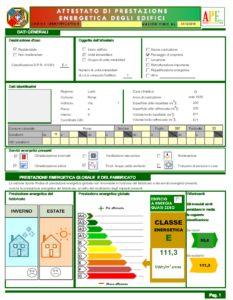 Certificazione Energetica (APE)